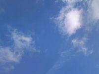 当日の空。快晴